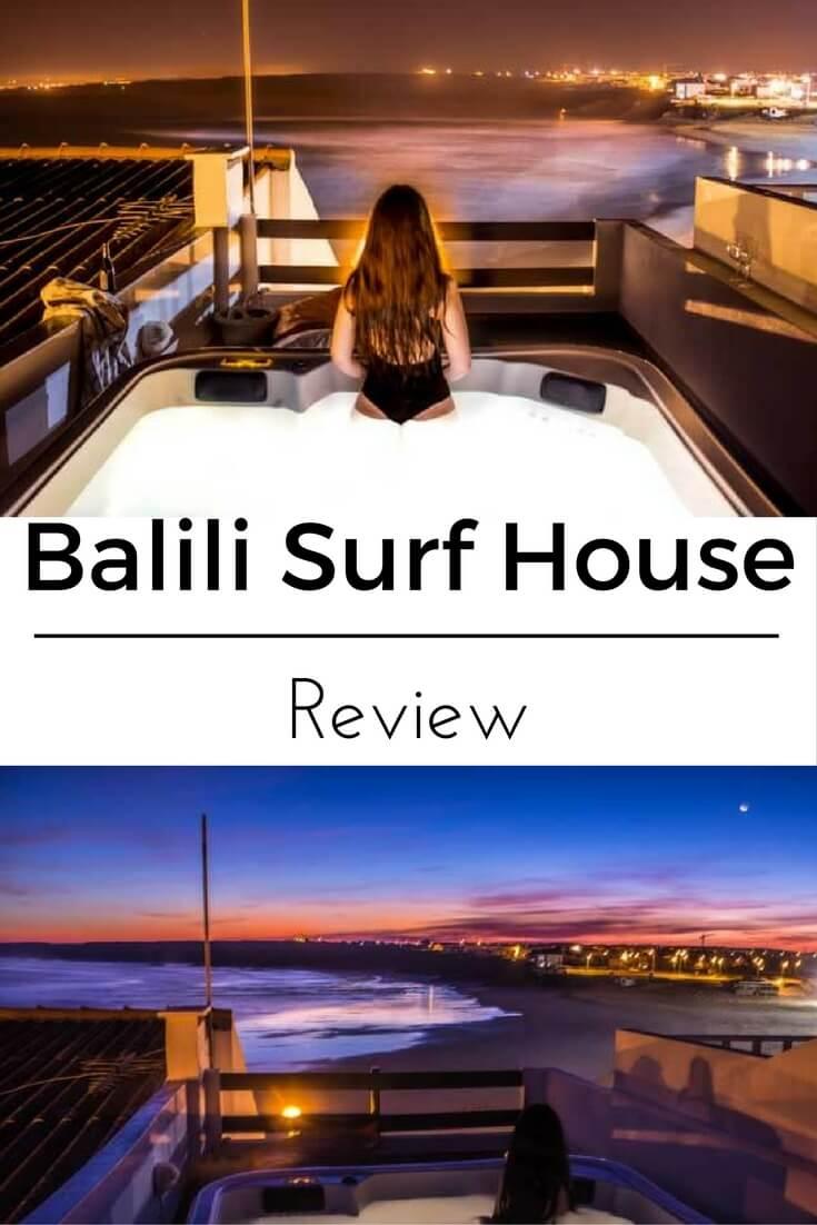 Balili Surf House: Jacuzzi com Vista Para o Mar